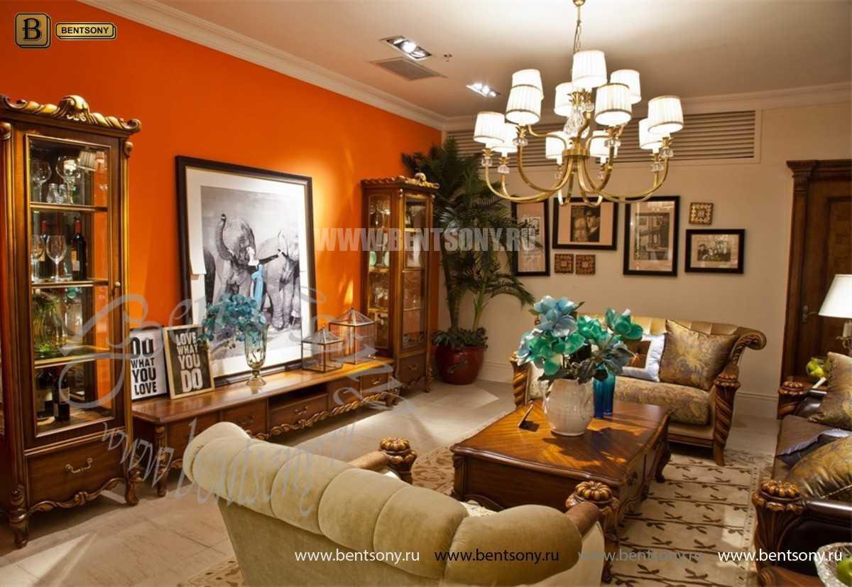 Гостиная Лоренс A классическая (Ткань) каталог мебели