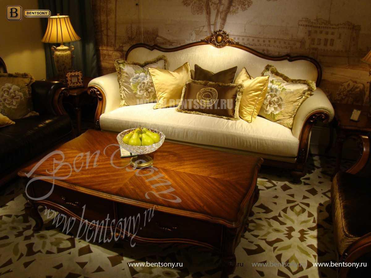 Гостиная Лоренс A классическая (Ткань) для загородного дома