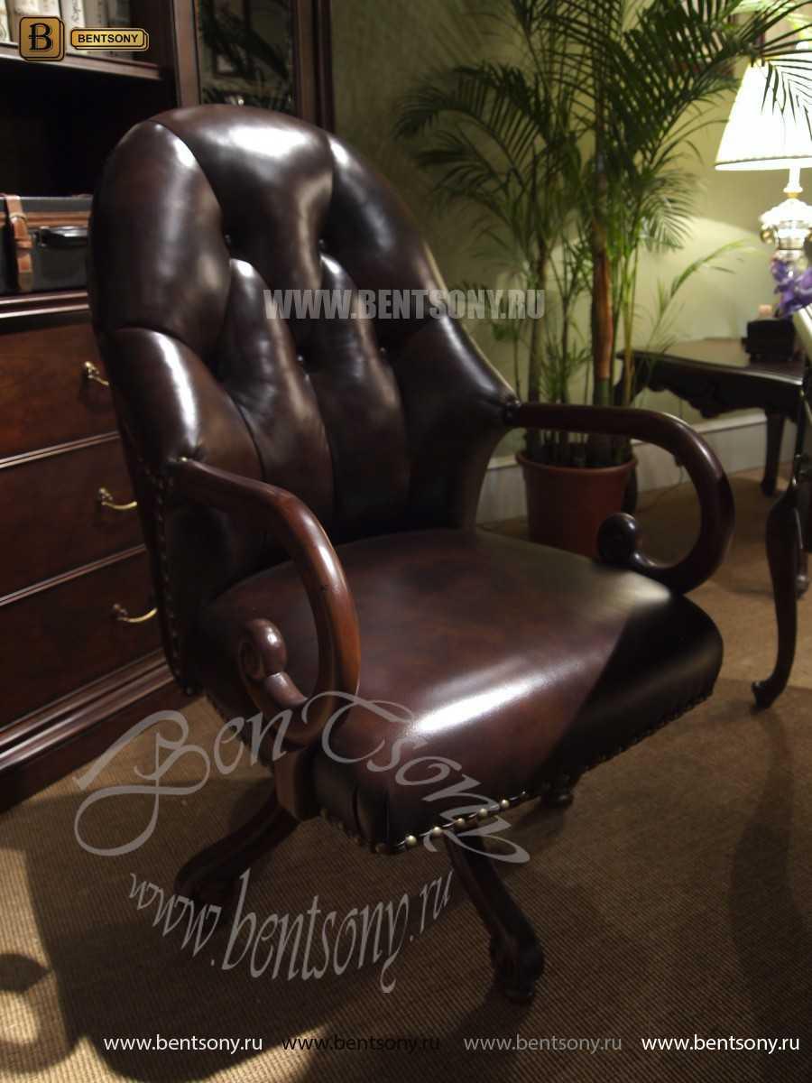 Кресло Крофорд (Вращается, натуральная кожа) каталог мебели с ценами