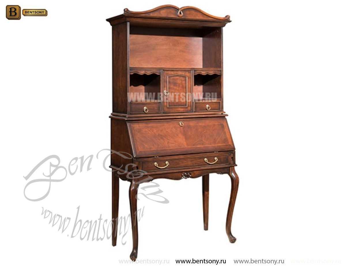 Классический стол для письма(бюро) Крофорд (Массив дерева) в интерьере