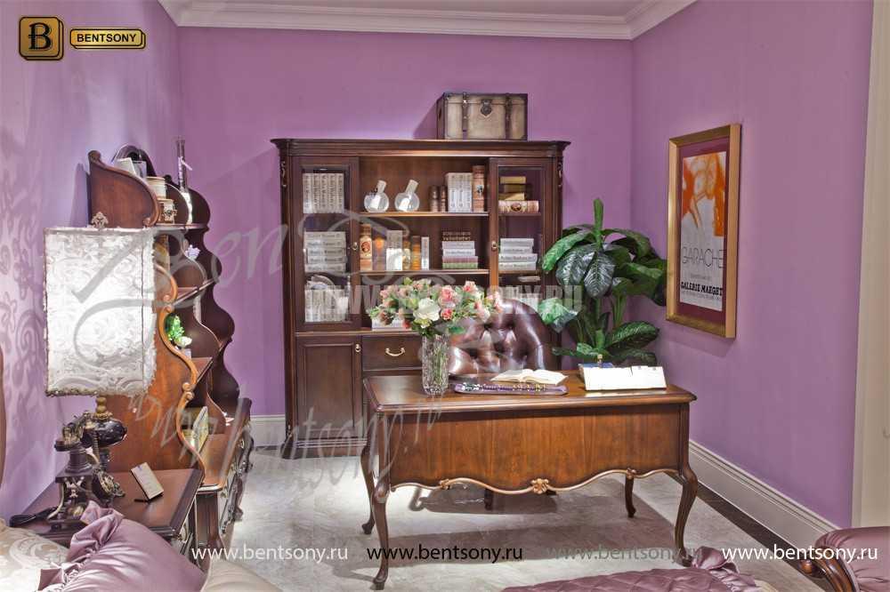 Шкаф Книжный Крофорд (Классика, массив дерева) каталог