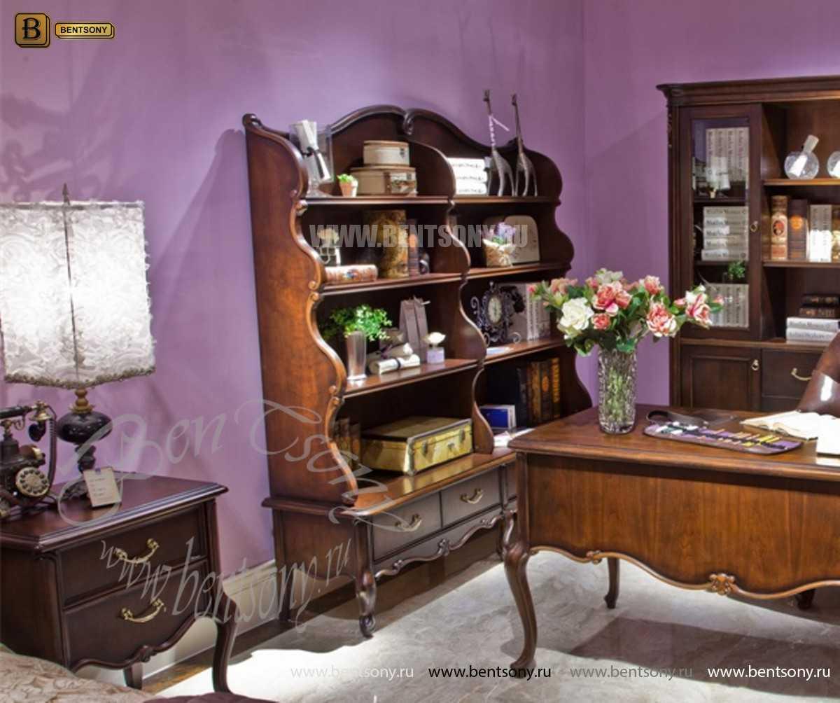 Книжный шкаф-этажерка Крофорд (Классика, массив дерева) интернет магазин
