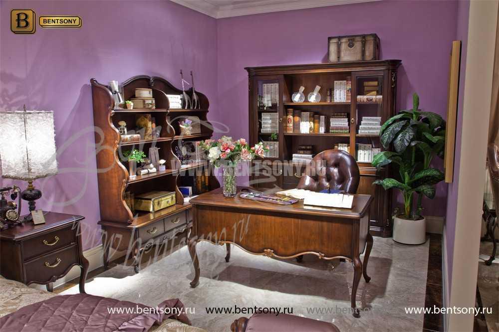 Книжный шкаф-этажерка Крофорд (Классика, массив дерева) цена