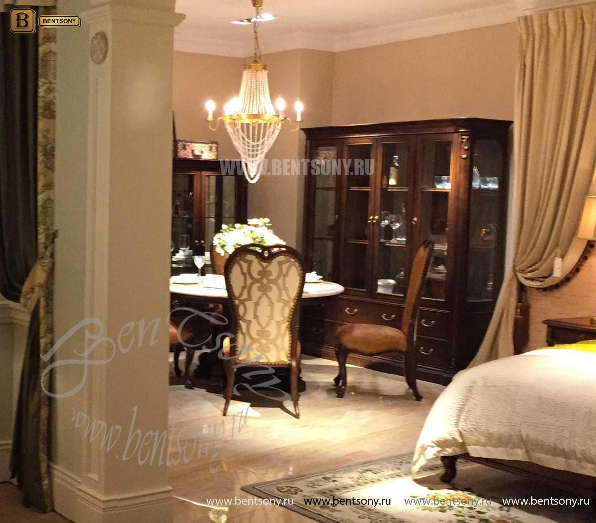 Витрина 4-х дверная Крофорд (Массив дерева, классика) каталог мебели