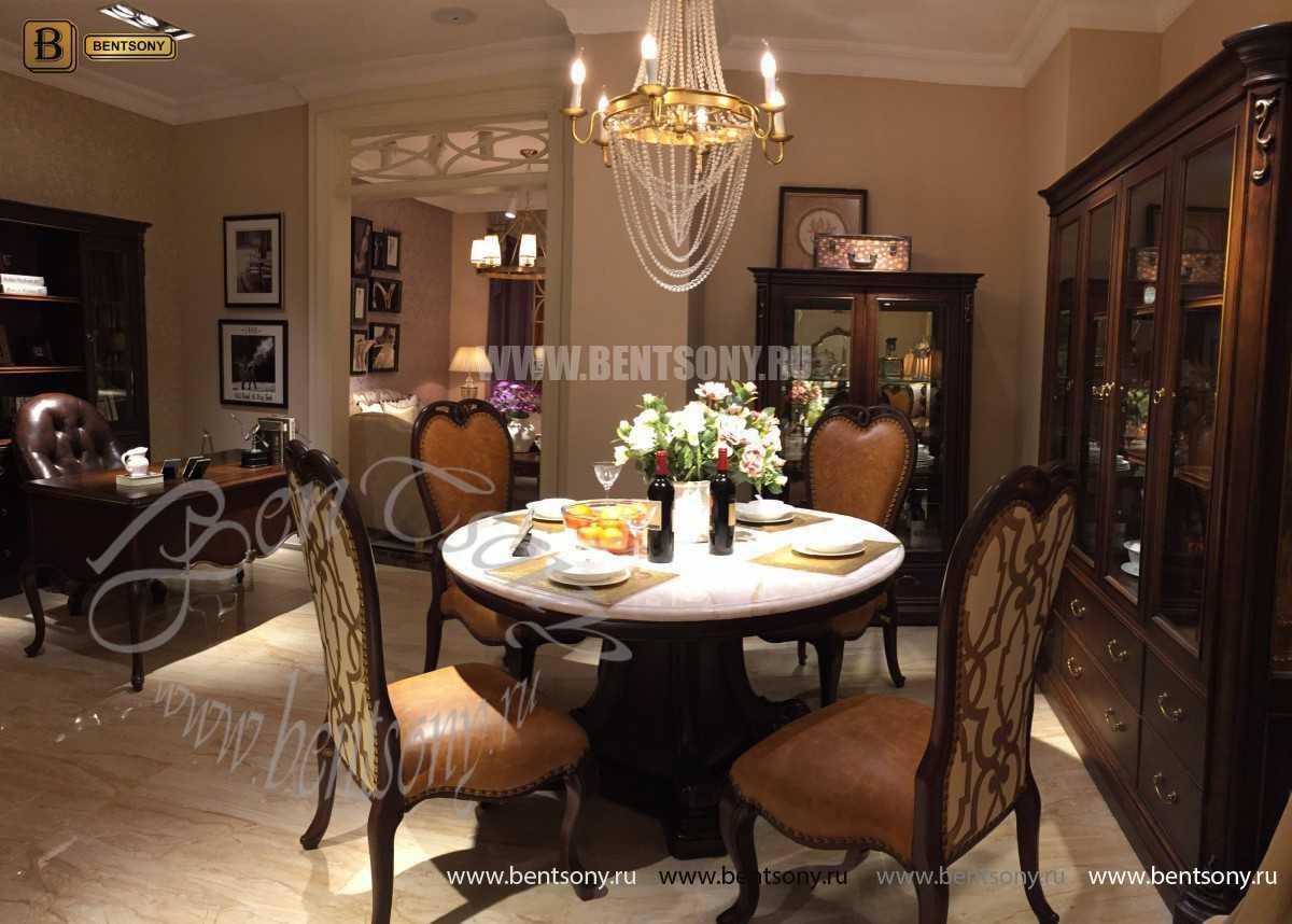 Витрина Крофорд для предметов декора (Классика, массив дерева) каталог мебели с ценами