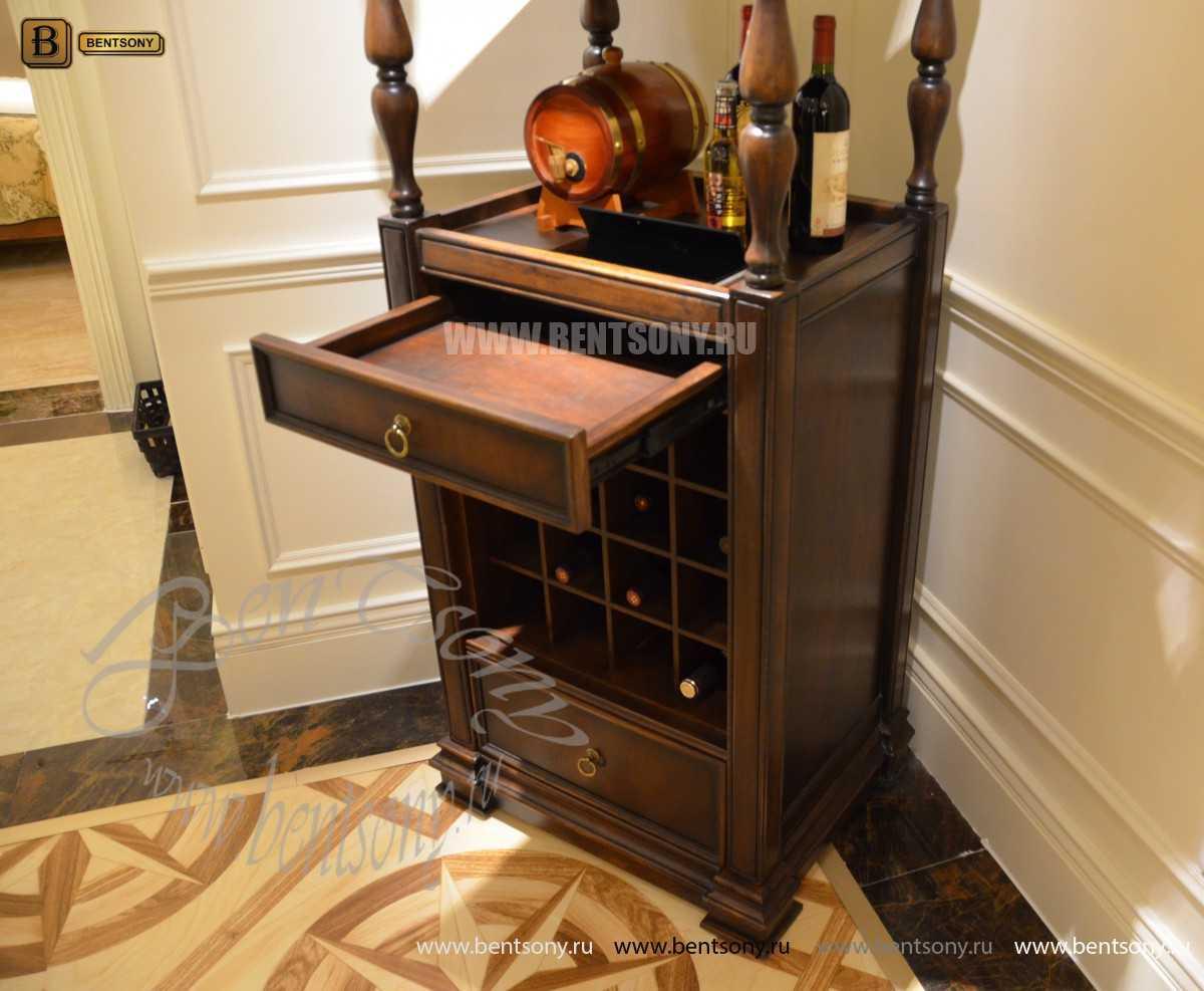 Винный шкаф Крофорд (Массив дерева) для квартиры