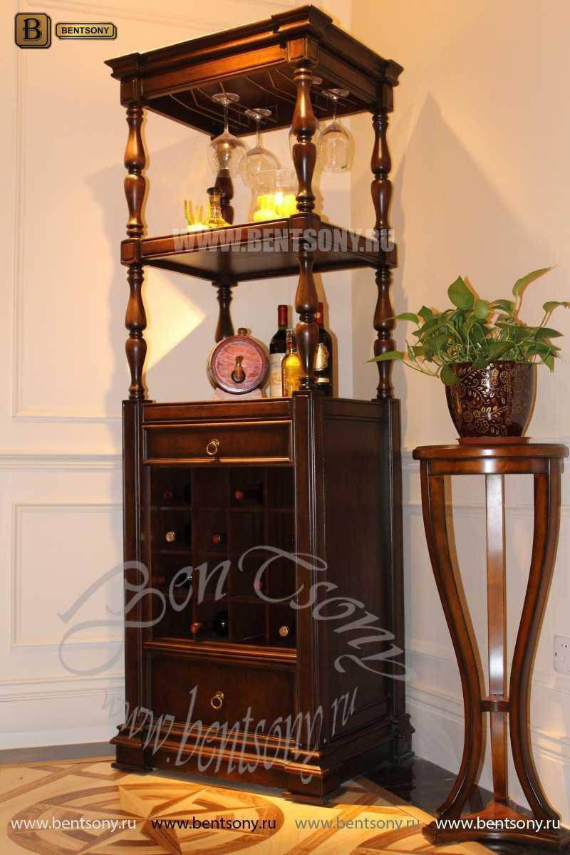Винный шкаф Крофорд (Массив дерева) для загородного дома