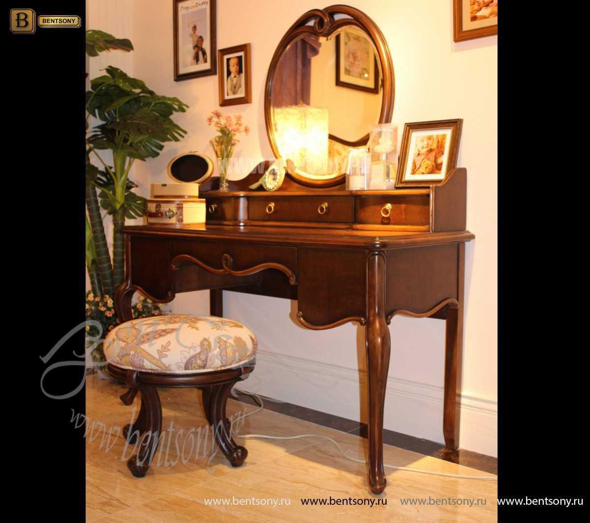 Стол туалетный Крофорд А с зеркалом (Массив дерева, классика) для дома