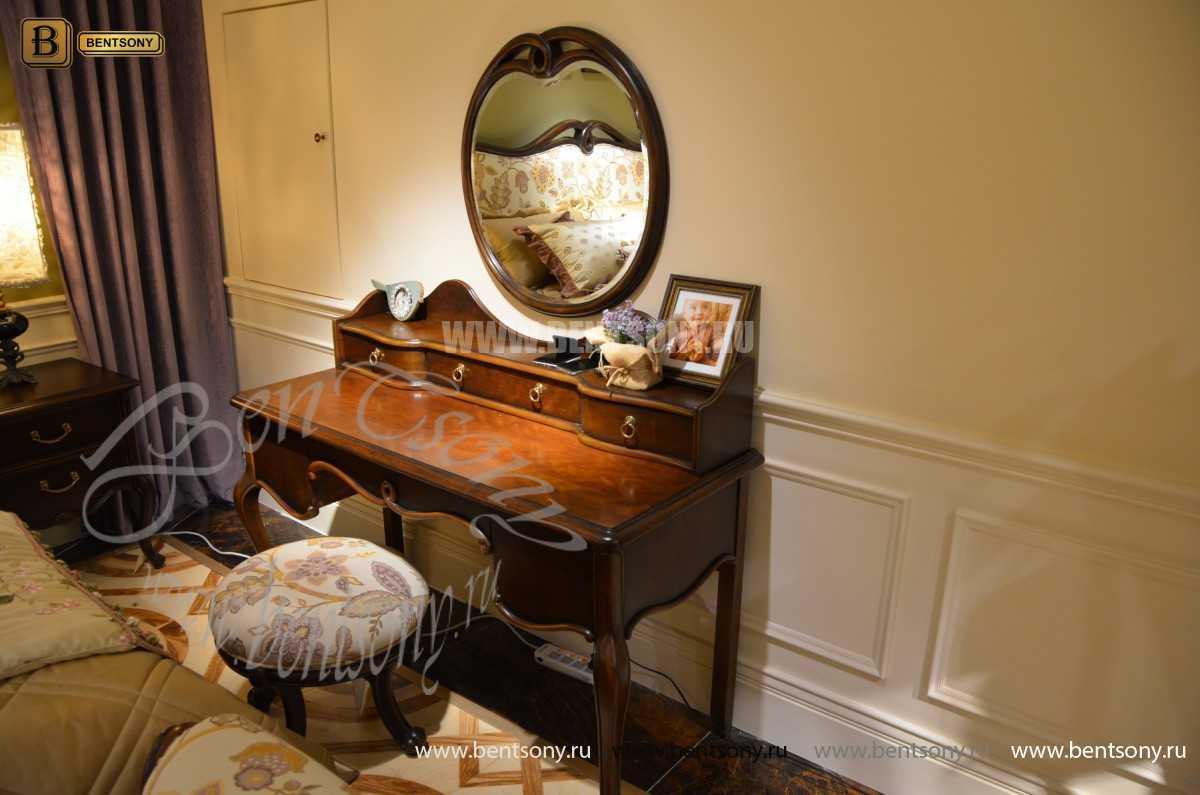 Стол туалетный Крофорд А с зеркалом (Массив дерева, классика) для загородного дома