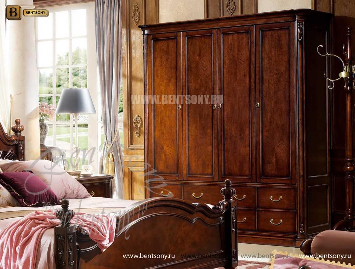 Шкаф 4-х дверный Крофорд (Массив дерева, Классика) каталог с ценами