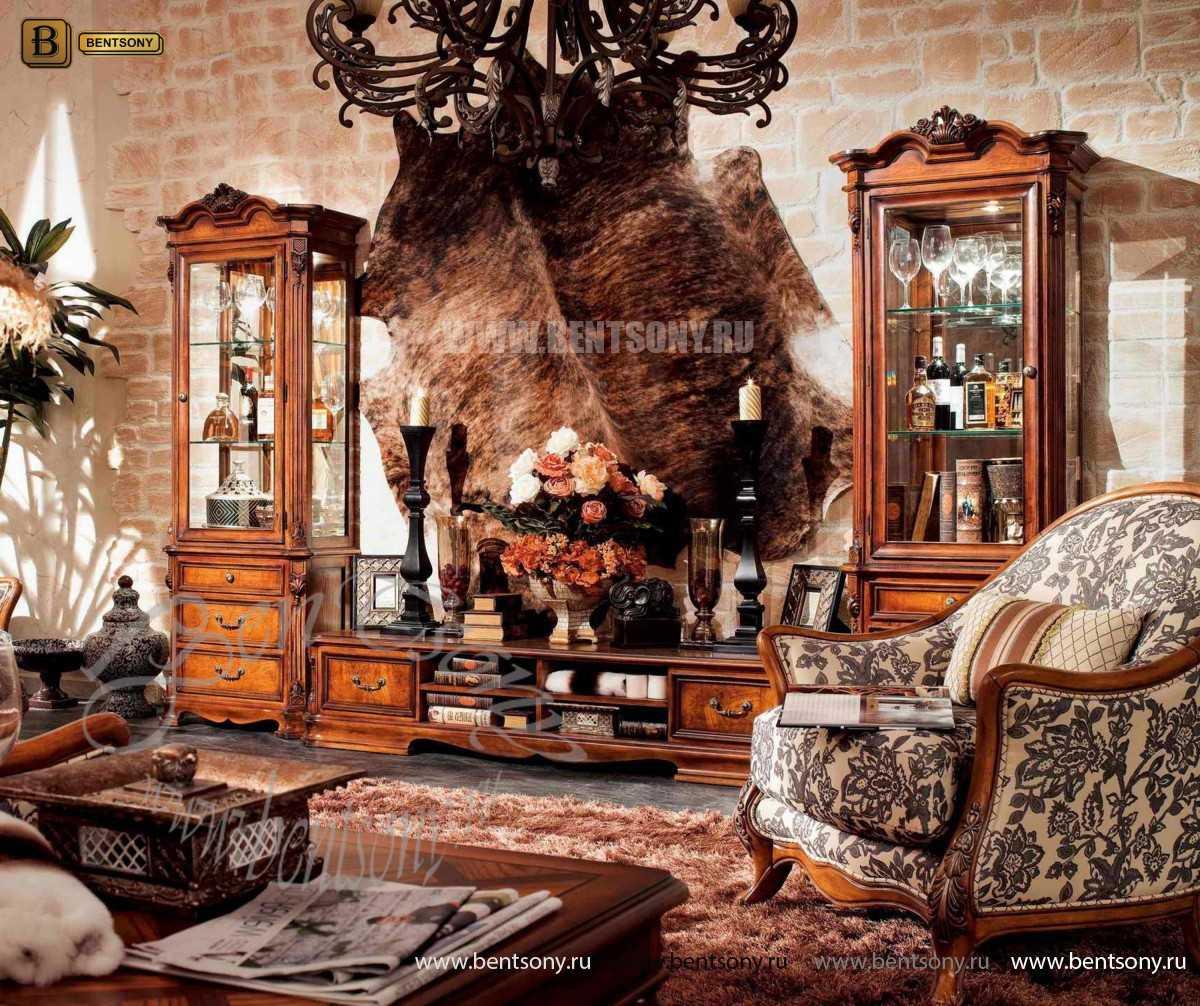 Стенка Феникс (Классика, массив дерева) купить в Москве
