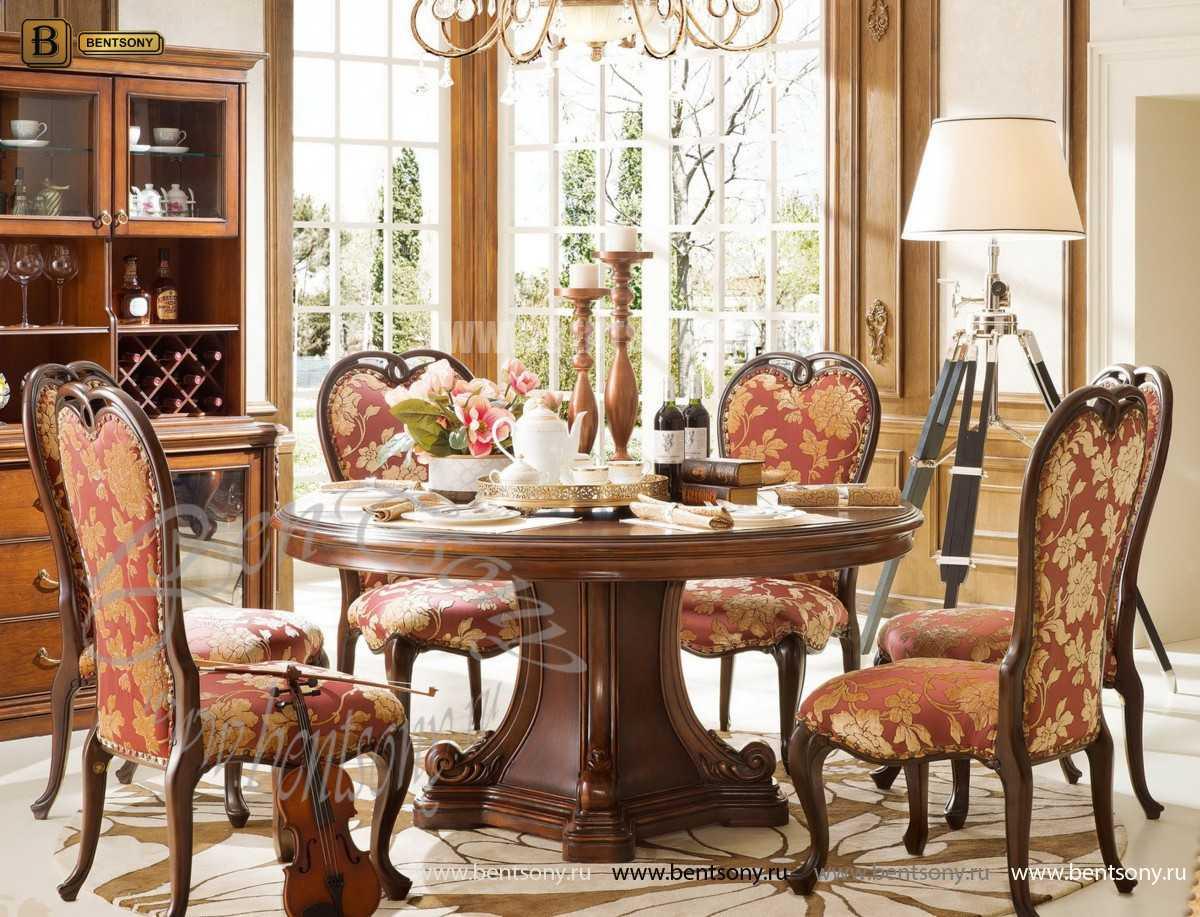 Стол обеденный круглый Крофорд (Классика, массив дерева) для загородного дома