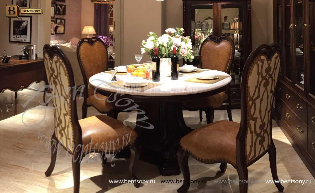 Стол обеденный круглый Крофорд (Классика, массив дерева) фото