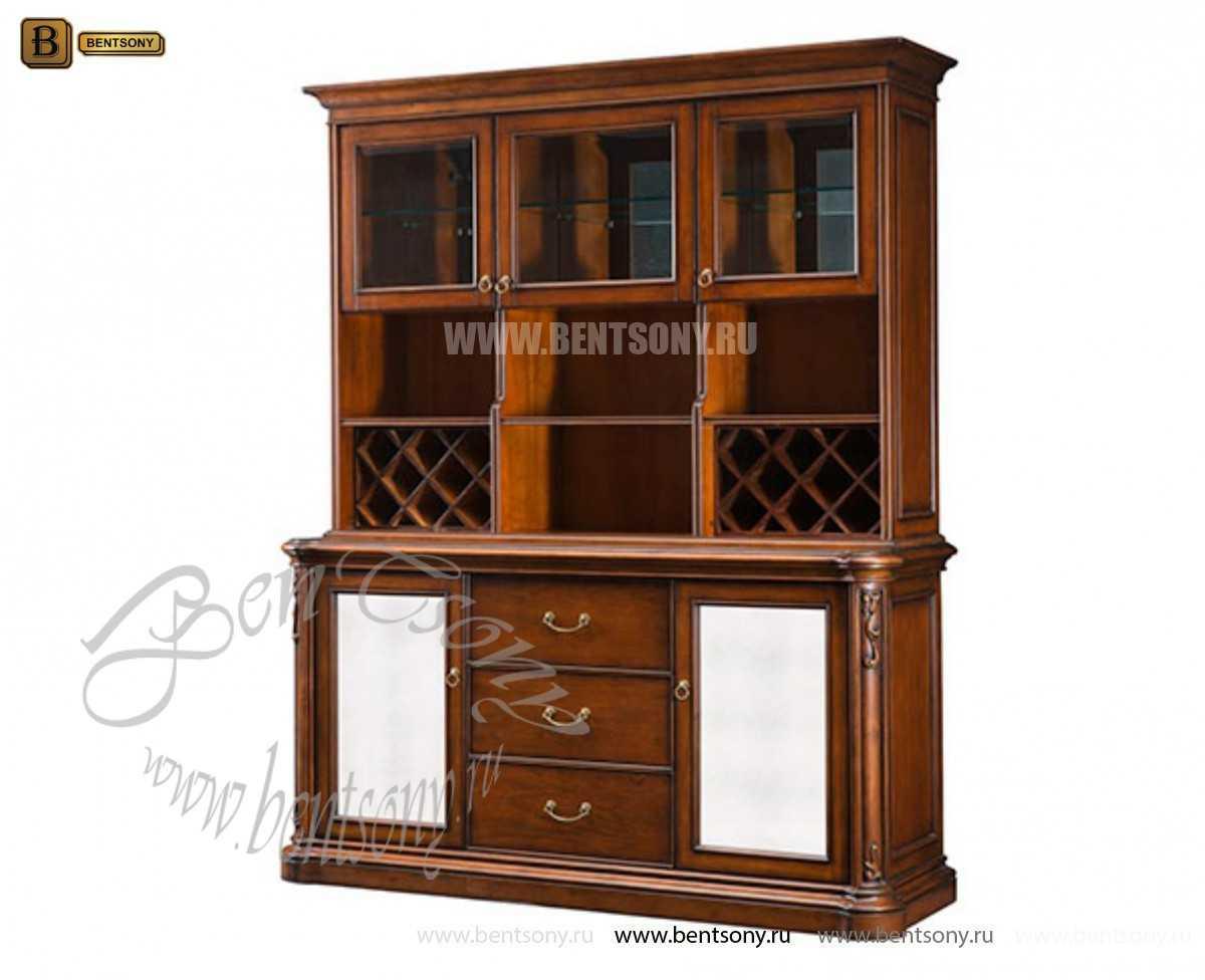 Классический Буфет Крофорд (Комод с надстройкой, Барный шкаф)  каталог мебели