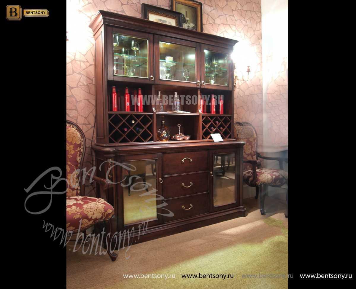 Классический Буфет Крофорд (Комод с надстройкой, Барный шкаф)  для дома
