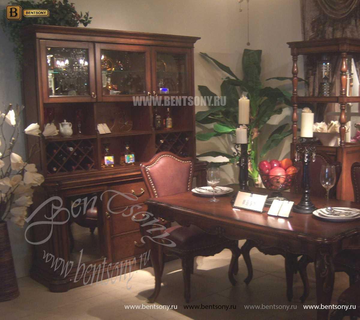 Классический Буфет Крофорд (Комод с надстройкой, Барный шкаф)  каталог с ценами