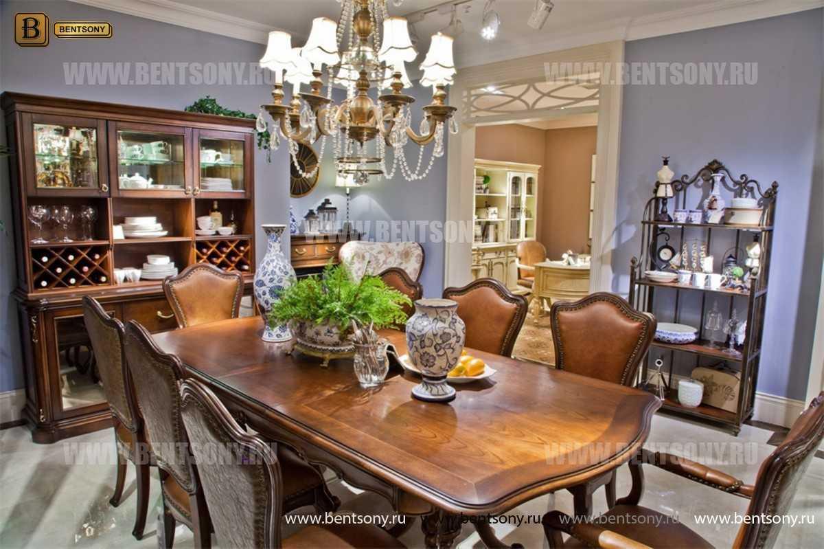 Этажерка Крофорд для предметов декора (Классика, массив дерева) каталог мебели с ценами