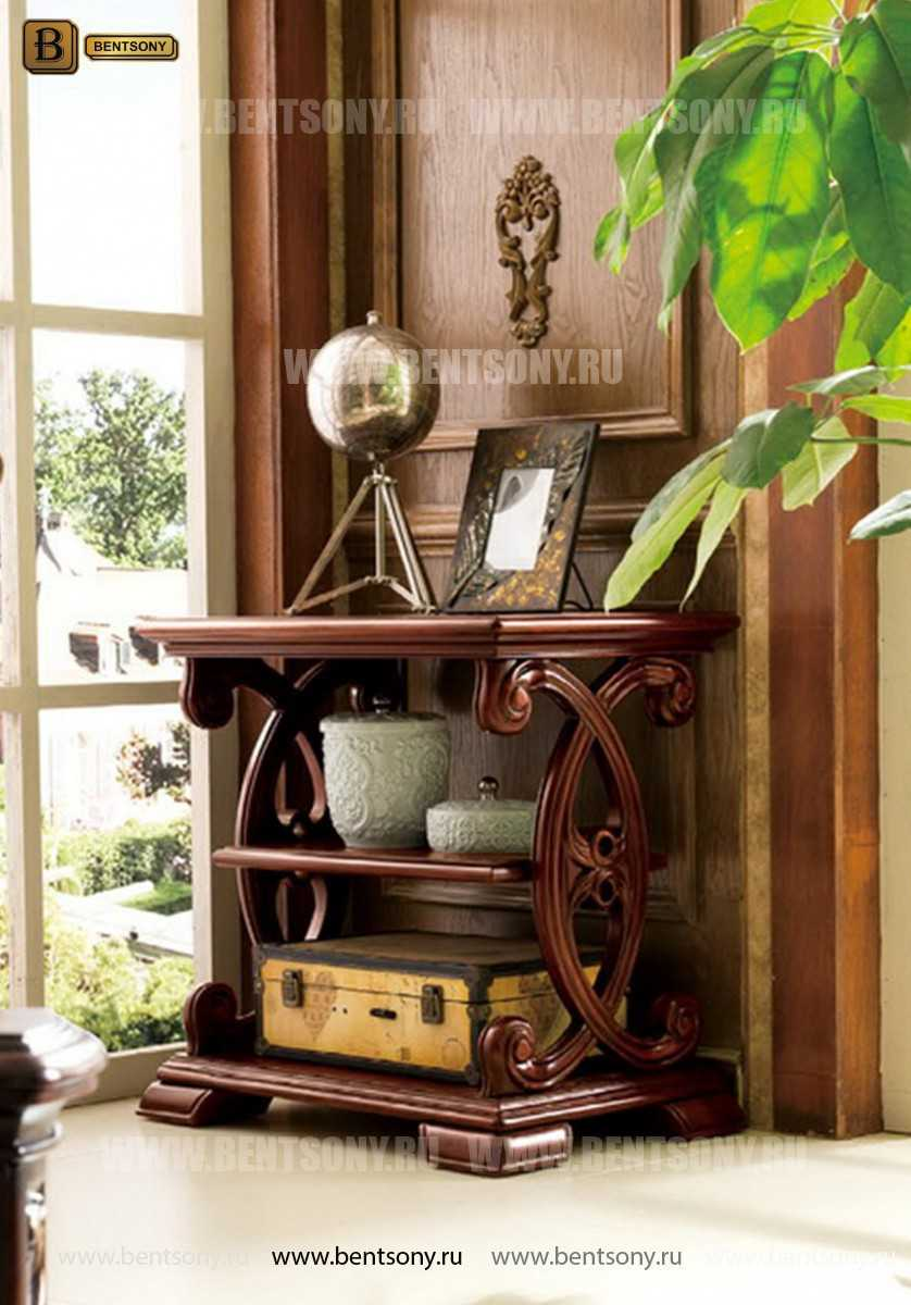 Тумба придиванная Крофорд, Консоль (Классика, массив дерева) для загородного дома
