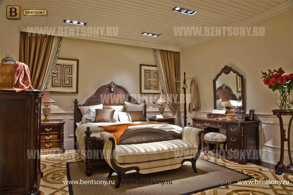 Кровать Крофорд B (Классика, Массив дерева) для загородного дома