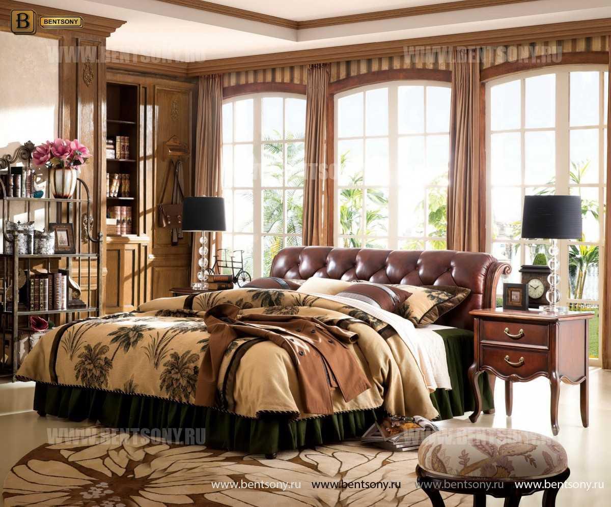Спальня Крофорд D (Массив дерева, натуральная кожа) магазин Москва