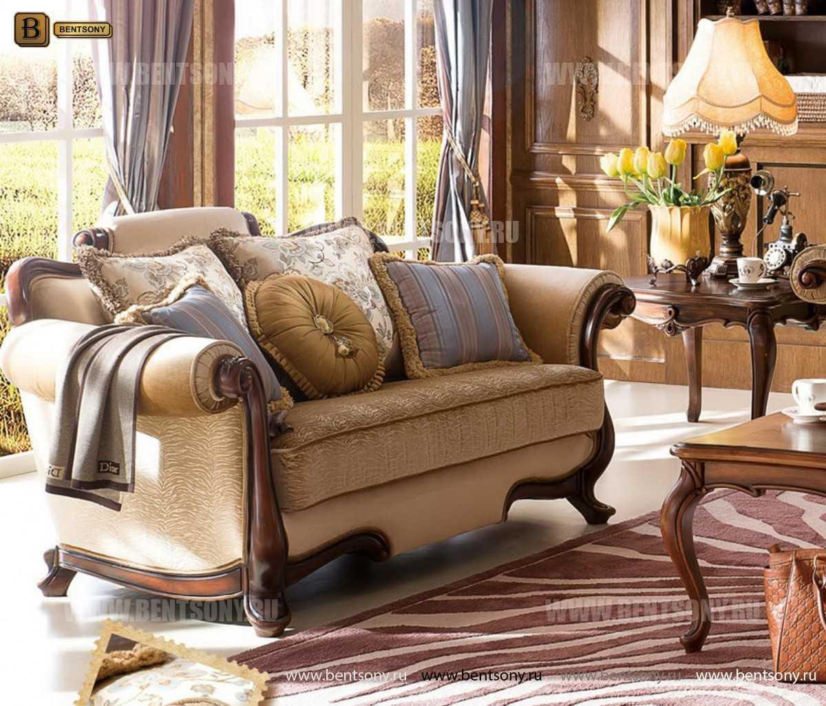 Диван Крофорд В (Классика, Ткань, массив дерева) изображение