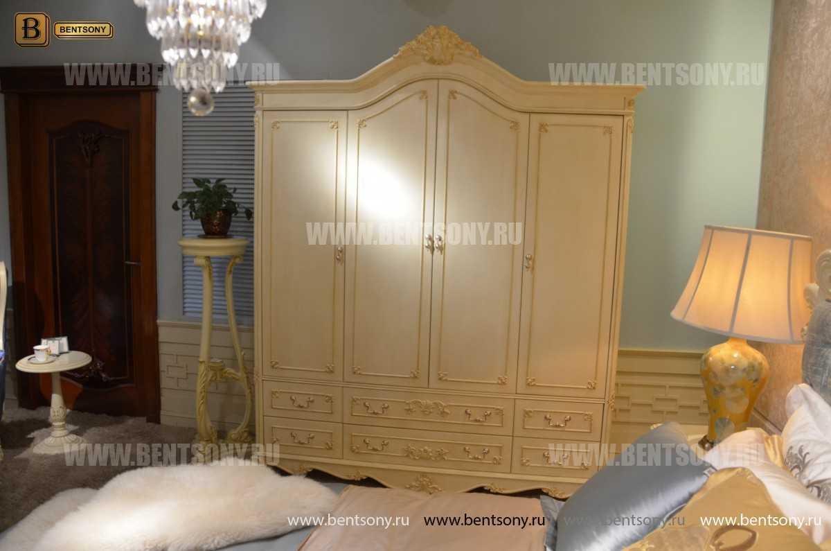 Шкаф 4-х дверный Митчел (Массив дерева, Классика) магазин Москва