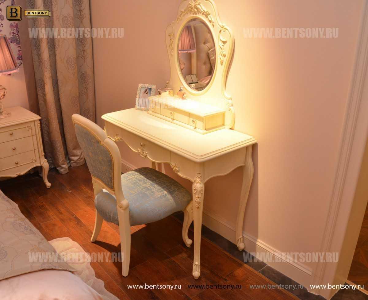 Стол туалетный Митчел В классический (Белый, Массив дерева) для загородного дома