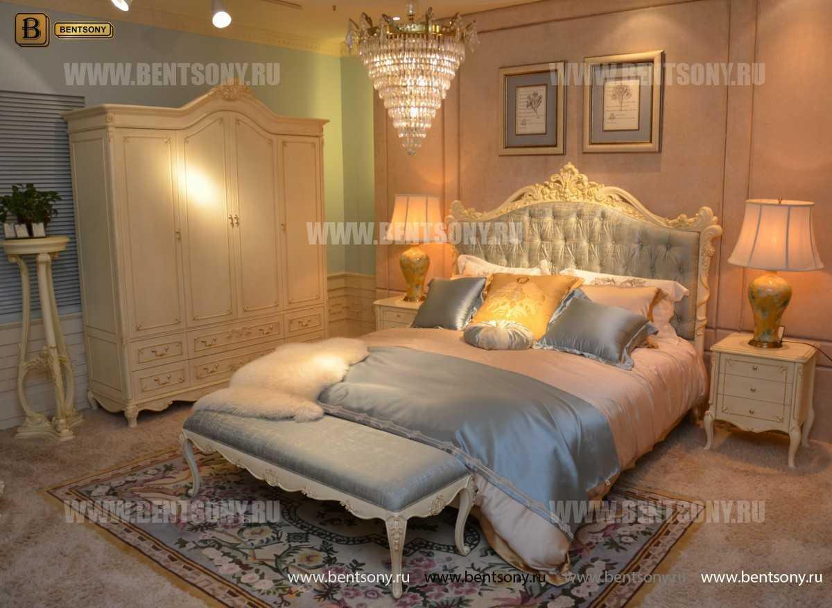 Спальня Митчел А (Классика, Ткань, Белый цвет) в Москве