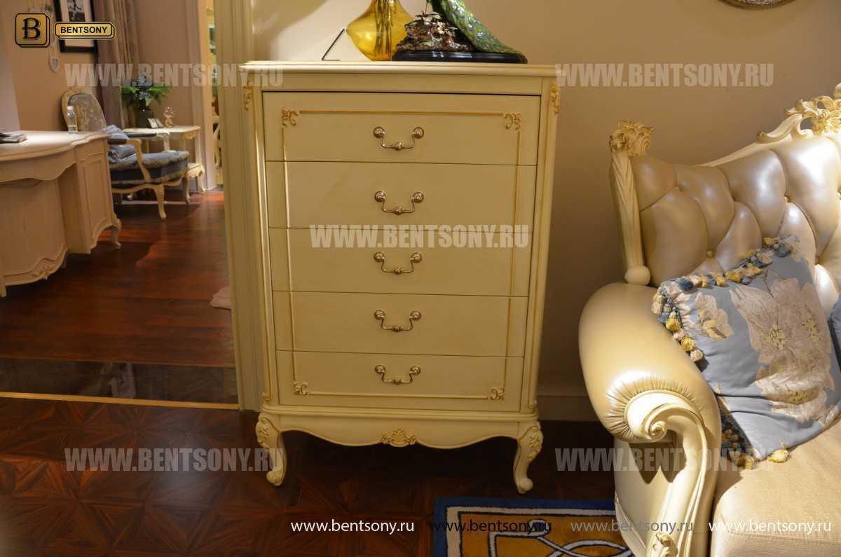 Спальня Митчел А (Классика, Ткань, Белый цвет) в интерьере
