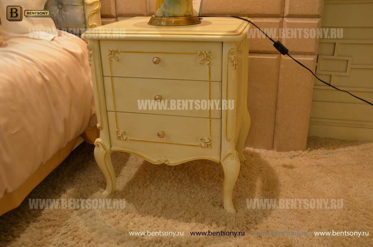 Спальня Митчел А (Классика, Ткань, Белый цвет) для квартиры