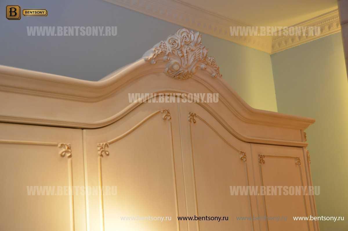Спальня Митчел А (Классика, Ткань, Белый цвет) для дома