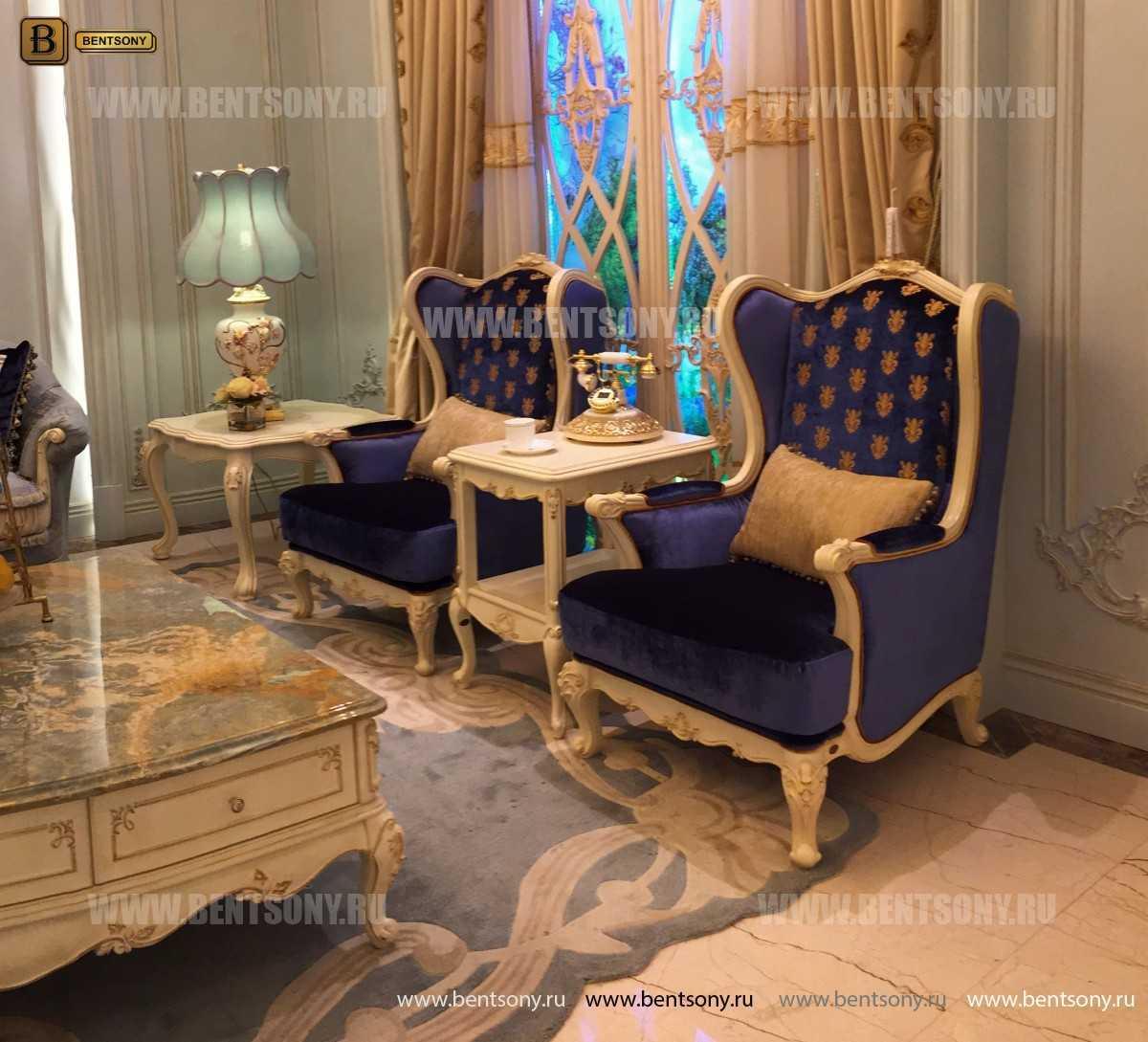 Кресло для отдыха Митчел с подушкой, Пуф (Классика, Ткань) интернет магазин