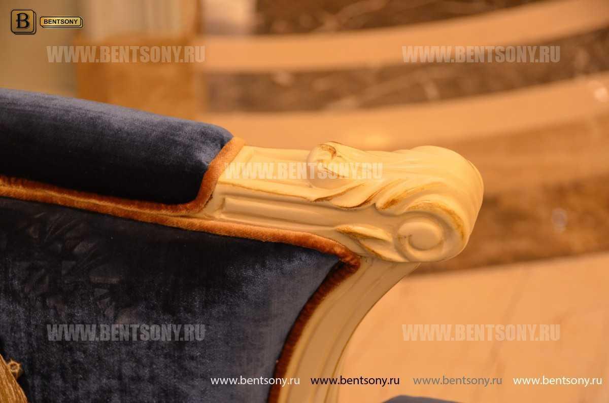 Кресло для отдыха Митчел с подушкой, Пуф (Классика, Ткань) для загородного дома