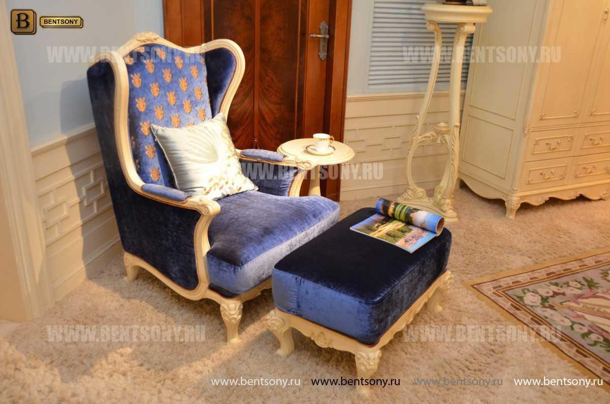 Кресло для отдыха Митчел с подушкой, Пуф (Классика, Ткань) купить в СПб