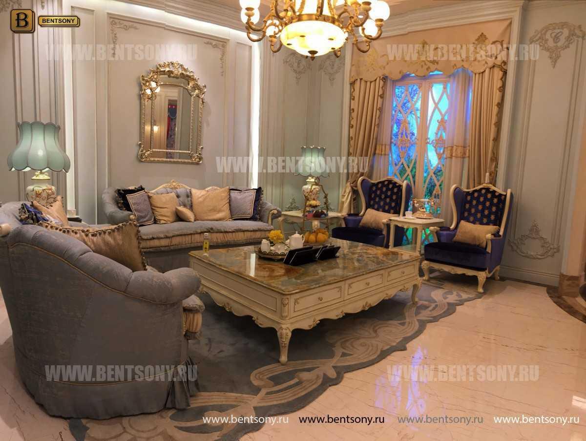 Кресло для отдыха Митчел с подушкой, Пуф (Классика, Ткань) в интерьере