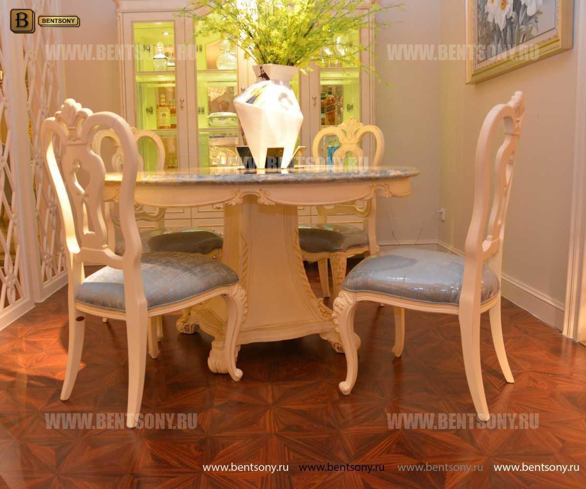 Стол обеденный круглый Митчел (Классика, мраморная столешница) сайт цены