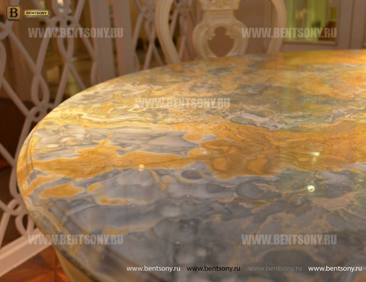 Стол обеденный круглый Митчел (Классика, мраморная столешница) в Москве
