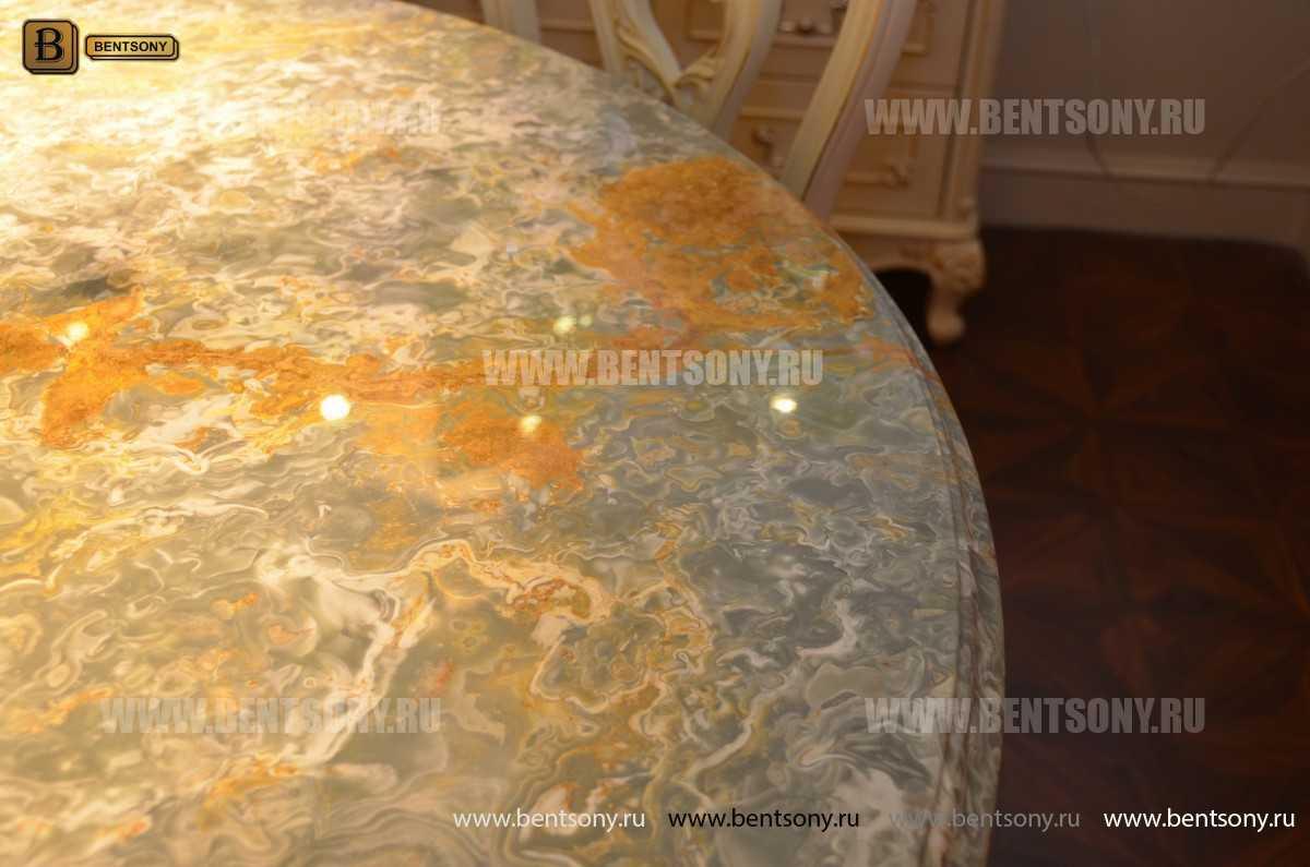 Стол обеденный круглый Митчел (Классика, мраморная столешница) каталог