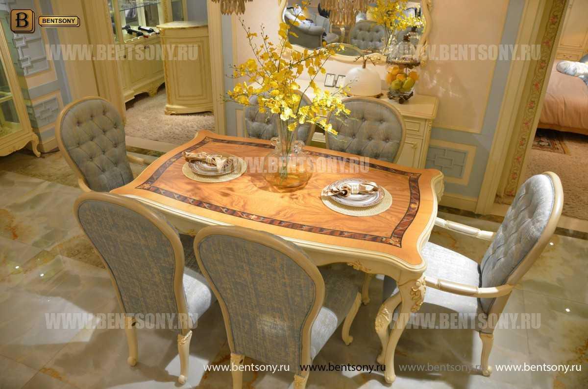 Стол обеденный Митчел прямоугольный (Классика, массив дерева) каталог мебели
