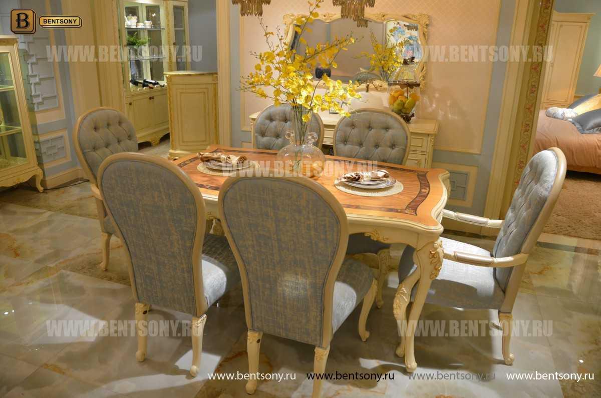 Стол обеденный Митчел прямоугольный (Классика, массив дерева) в интерьере