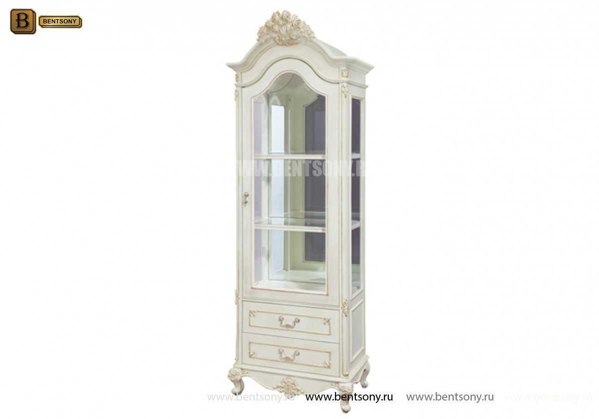 Витрина однодверная Митчел (Классика, массив дерева) каталог мебели с ценами