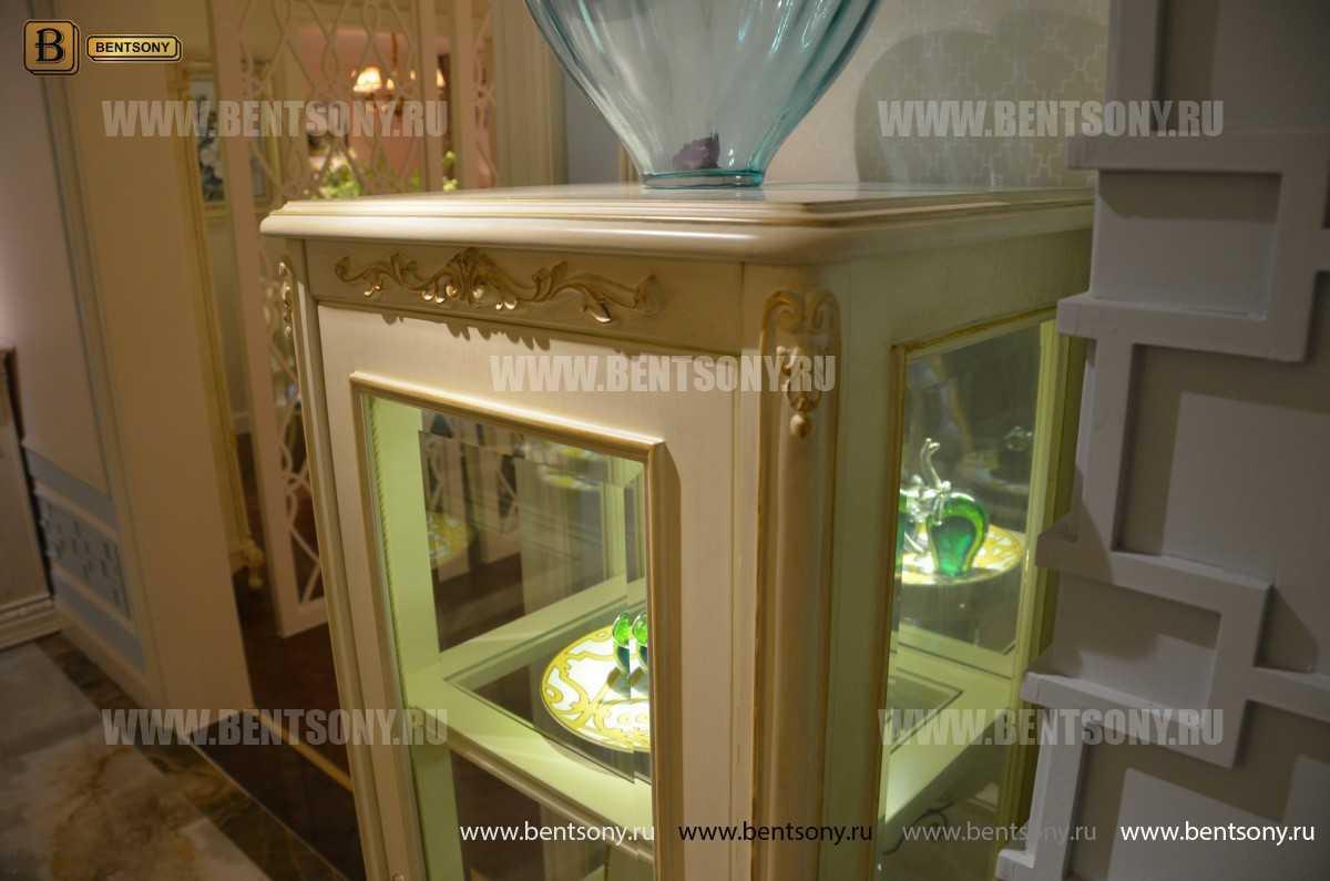 Витрина Митчел для предметов декора (Классика, массив дерева) распродажа