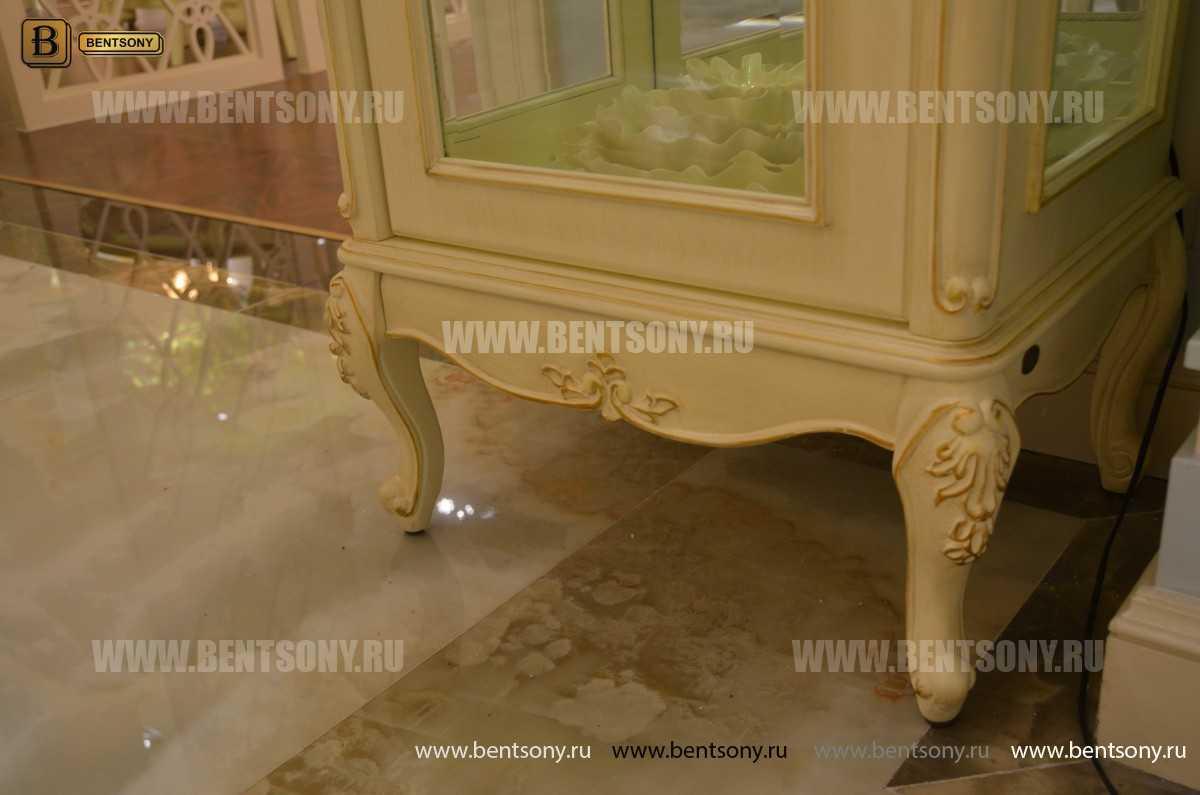 Витрина Митчел для предметов декора (Классика, массив дерева) купить в СПб