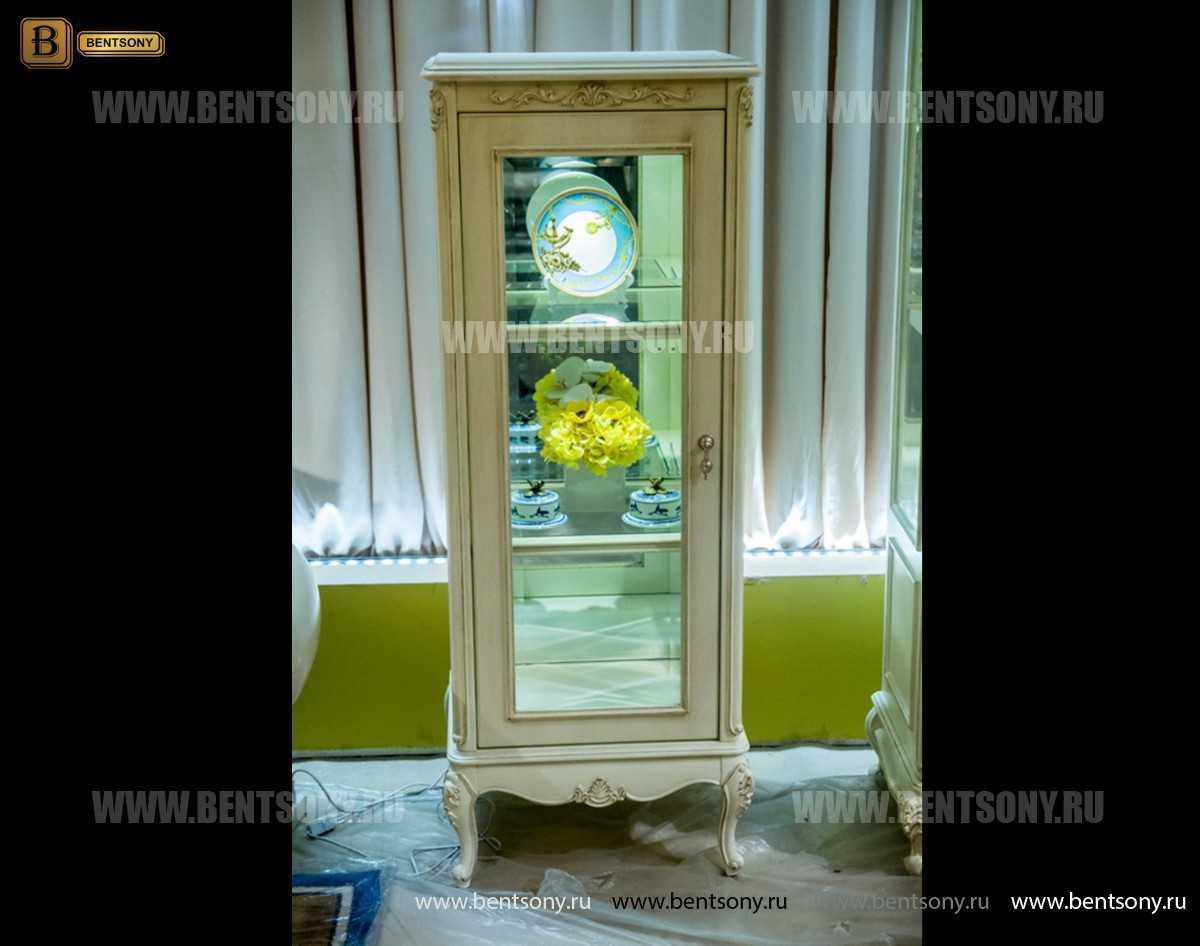 Витрина Митчел для предметов декора (Классика, массив дерева) каталог мебели с ценами