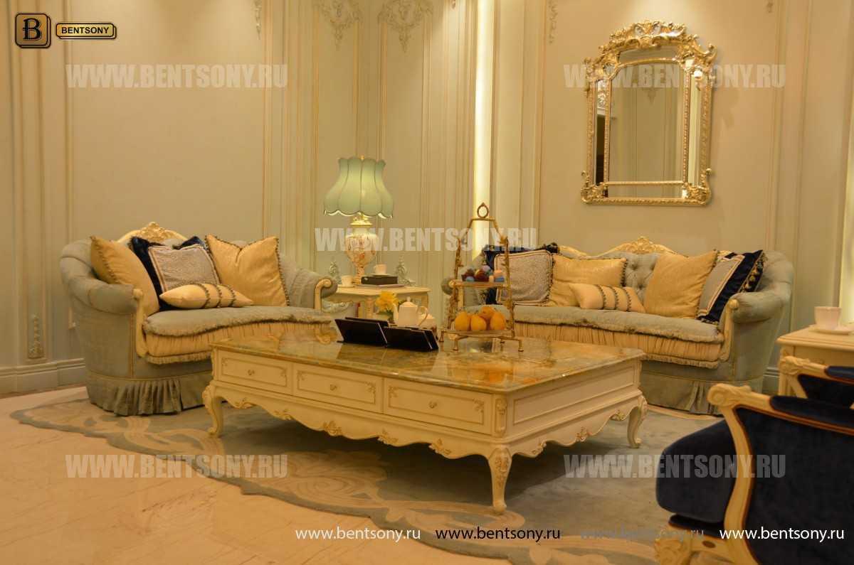 Стол Журнальный большой прямоугольный Митчел А (Мрамор, классика) для квартиры