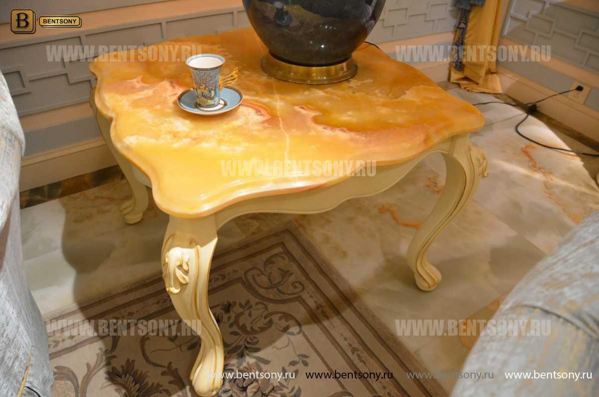 Стол журнальный Митчел В квадратный маленький (Мрамор) каталог мебели с ценами