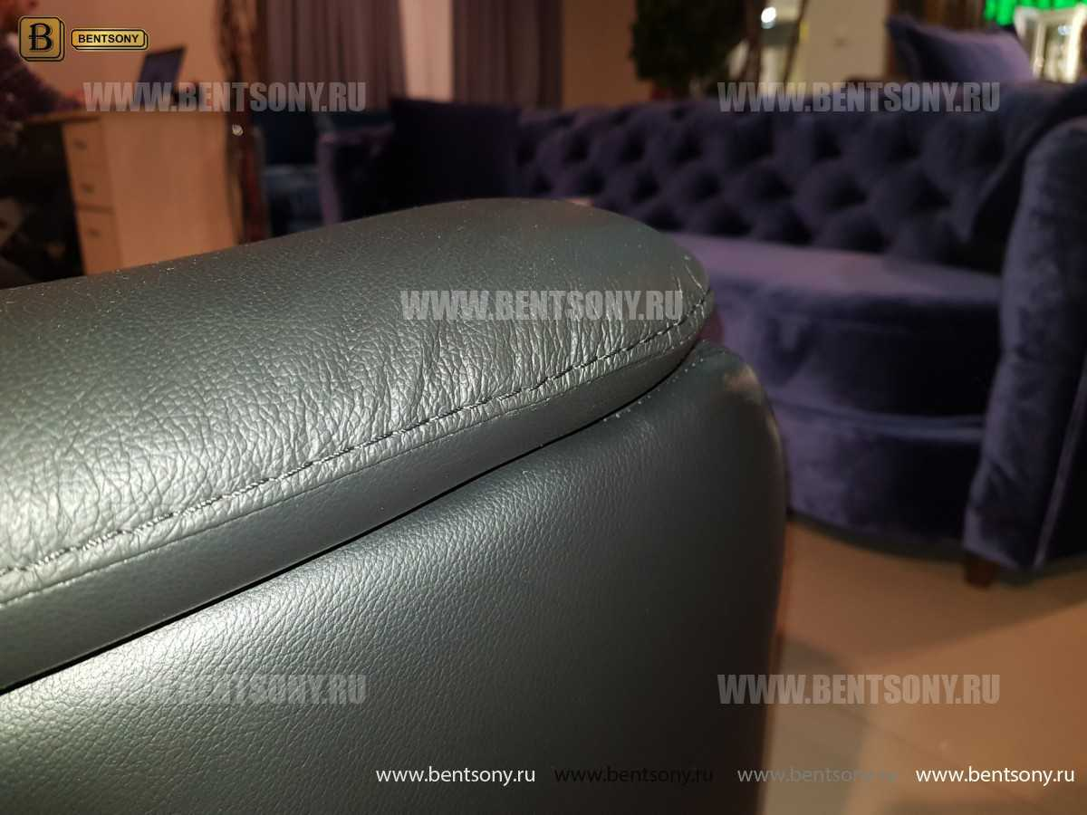 Диван Гермес (Электрический реклайнер, натуральная кожа) каталог мебели