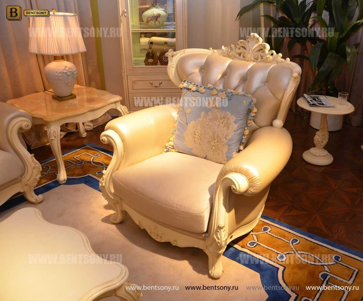 Кресло Митчел D (Классика, Ткань, Натуральная кожа) магазин Москва