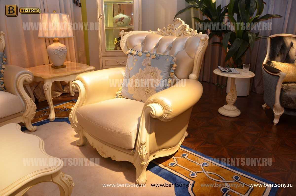 Кресло Митчел D (Классика, Ткань, Натуральная кожа) в СПб