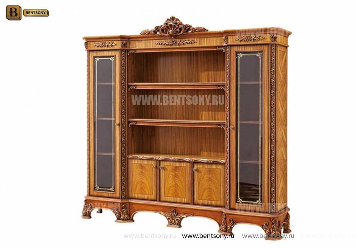Шкаф Книжный Белмонт (Классика, массив дерева) для загородного дома